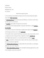 Memorization Questions ch 7 pg 404.docx