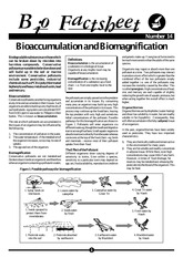 014 - Bioaccumulation and Biomagnification