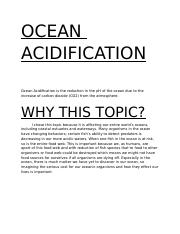 EARTH DAY ACIDIFICATION PROJECT