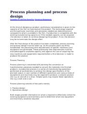 Process planning and process design.docx