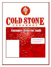 Consumer Behaviour Sample Final Project - Coldstone