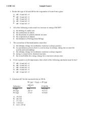 Sample Exam 4  with some answers