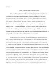 critique of joseph conrads hea essay