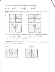 Graphing Quadratic Functions page 2