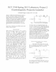 ECE 2240 - Lab Project 2 Electromagnetic Projectile Launcher