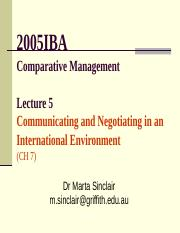 2005IBA-16 Lecture 5a - Communication-Negotiation.ppt