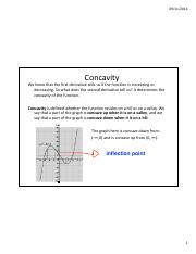 Lesson 26a - Concavity and Infleciton Points