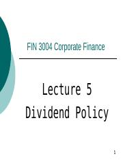 FIN3004_2015_lecture05_Dividend_policy