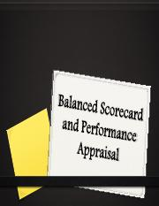 6 - Balanced Scorecard and Other Performance Measures