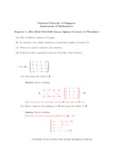 Lecture 15 Worksheet Solution