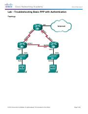CCNA 4 Lab 3.4.1.5 - Troubleshooting Basic PPP with Authentication.pdf