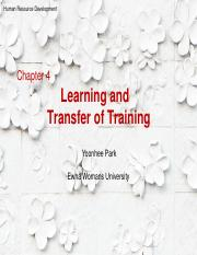 Ch4-Learning and Transfer of Training (Updated for students).pdf