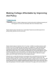 Making College Affordable by Improving Aid Polic1.docx