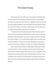 Sample Apa Essay Paper English The Giver Essay  The Giver Essay Dying Is What You Call A Colorful  Word Some People Are Depressed And Torn When Someone Has Died Others English As A Second Language Essay also High School Memories Essay English The Giver Essay  The Giver Essay Dying Is What You Call A  Example Of An English Essay