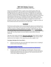 BST 322 Online Course Suggestions.docx