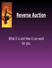 Reverse Auction.ppt