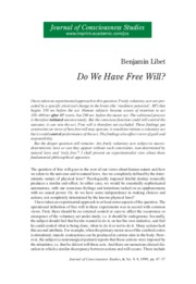 Benjamin+Libet+-+Do+We+Have+Free+Will