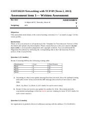 Assignment- COIT20229 - S0210165COIT20229 TCP-IP Networks_Assignment.docx