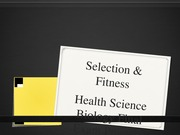Selection and Fitness