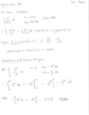 8. Substitution Rule Notes