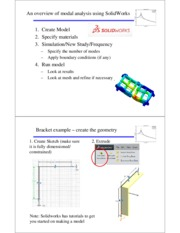 An overview of modal analysis using SolidWorks