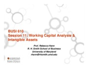 Session 11 Working Capital Analysis and Intangibles 2015
