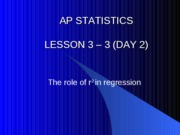 3-2 Day 1 The role of r2 in regression