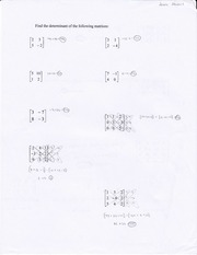 Finding the determinants of the following matrices