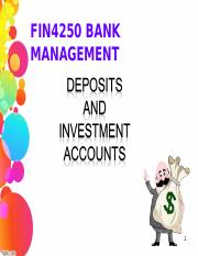Deposit and Investment Products - Student