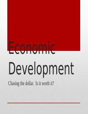 (Week 6) The Economic Development