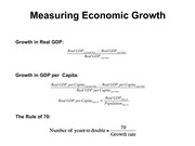 Lecture 13 Economic Growth