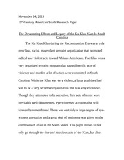 Kkk Study Resources  Pages Primary Source Analysis For Kkk Paper