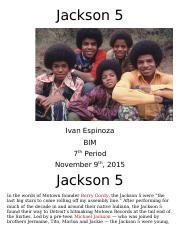 Music Project - Jackson 5