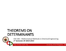 Lecture 02 - Theorems on Determinants