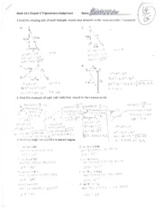 Math 10C Trignonometry Assignment Pg.1