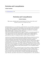 Nussbaum- Patriotism and Cosmopolitanism