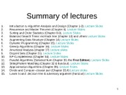SummaryofLectures