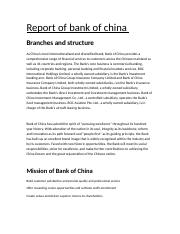 bank of china report