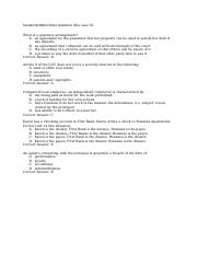 Sample Exam Questions (Bus Law II)