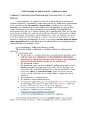 Assignment 8 Instructions - Comprehensive instructional design plan.docx