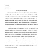 tragic flaw study resources 1 page gatsby tragic flaw