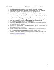 Assignment 2 Fall17 301A  Questions Answers.docx