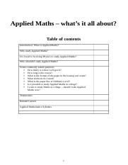 Applied maths whats it all about.docx