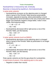 Trends in Nucleophilicity