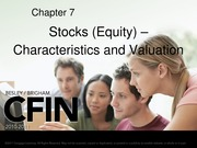 Chapter 7_Stock Characteristics and Valuation