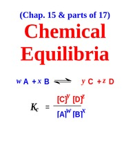 Chemical EquilibriaFall