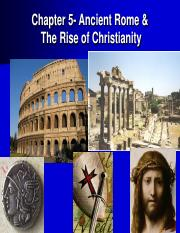 CHAPTE-5 Ancient Rome & the rise of chrisianity