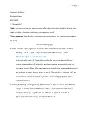 Annotated Bibliography ENC