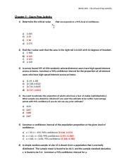 ANSWER KEY - Chapter 9 - Exam Prep Activity