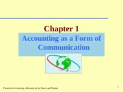 CHAPTER-1 ACCOUNTING AS A FORM OF COMMUNICATION